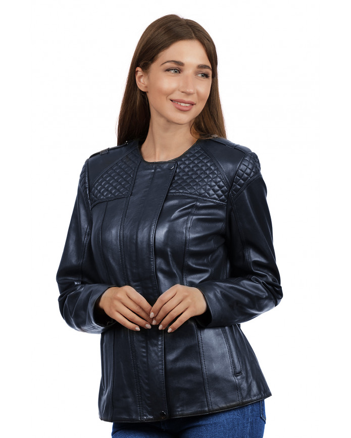Кожаная куртка  Z-17 Y110 ZIG 029 - интернет-магазин Alberta