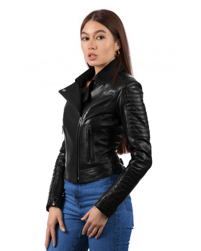 Женская кожаная куртка NN1101 VEGETAL 093 - интернет-магазин Alberta