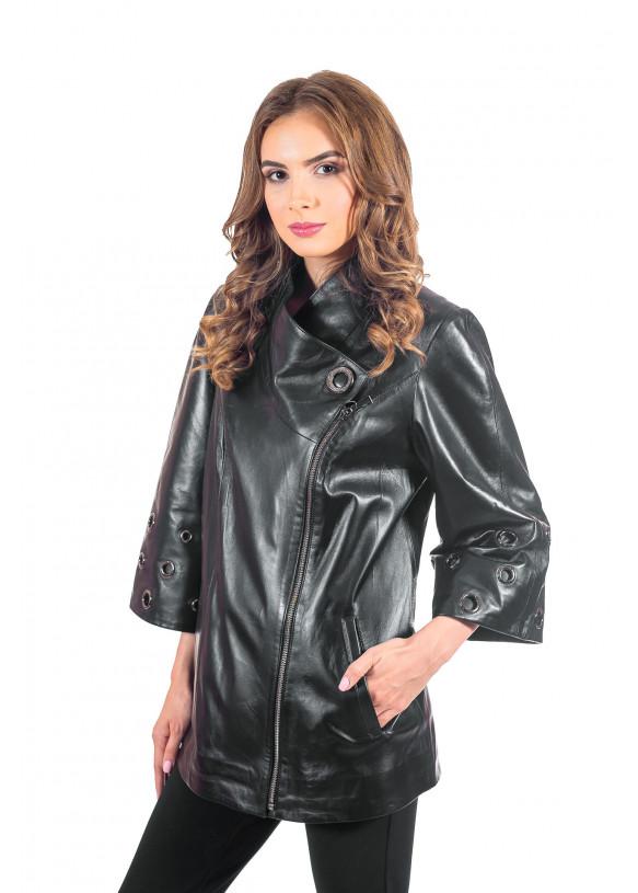 Женская кожаная куртка косуха NN.RC-1283 Y100 ZIG 038