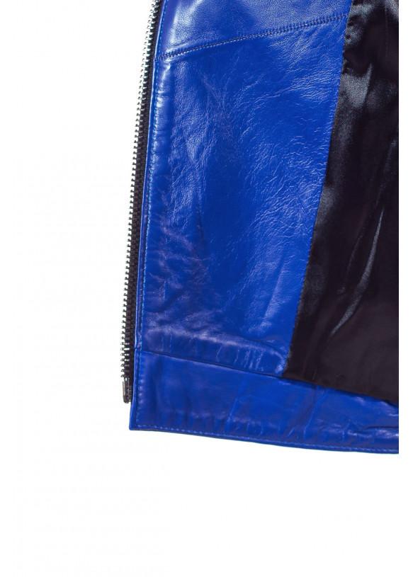 Женская кожаная куртка косуха 2200 Y110 ZIG 038