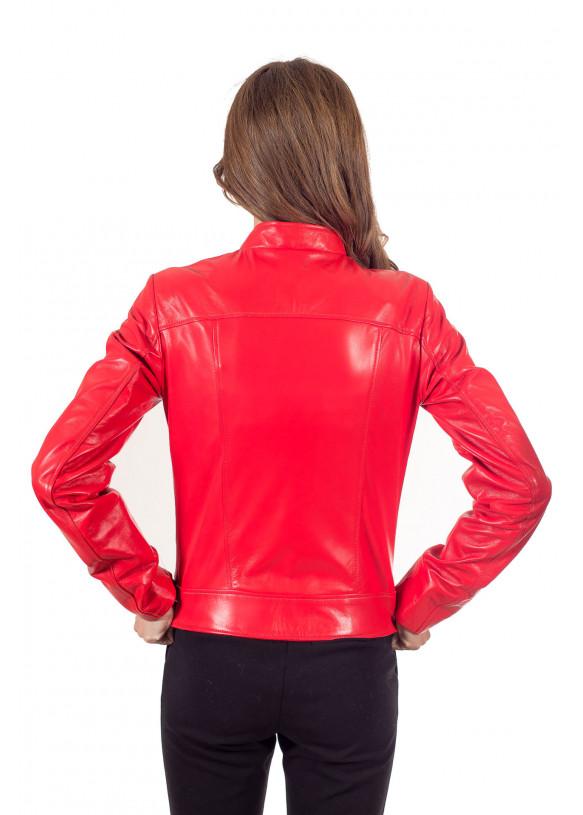 Женская кожаная куртка косуха RC-5045 Y110 ZIG 038