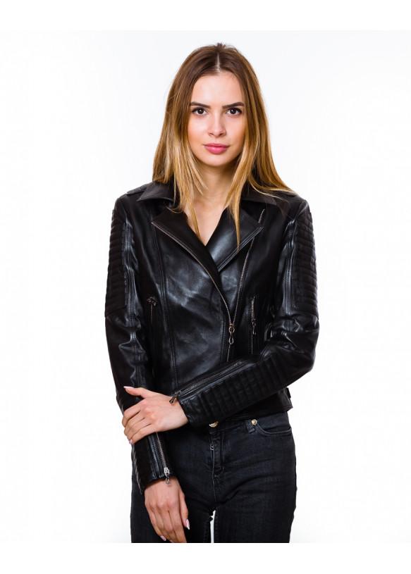 Женская кожаная куртка косуха 1101 Y120 ZIK 043