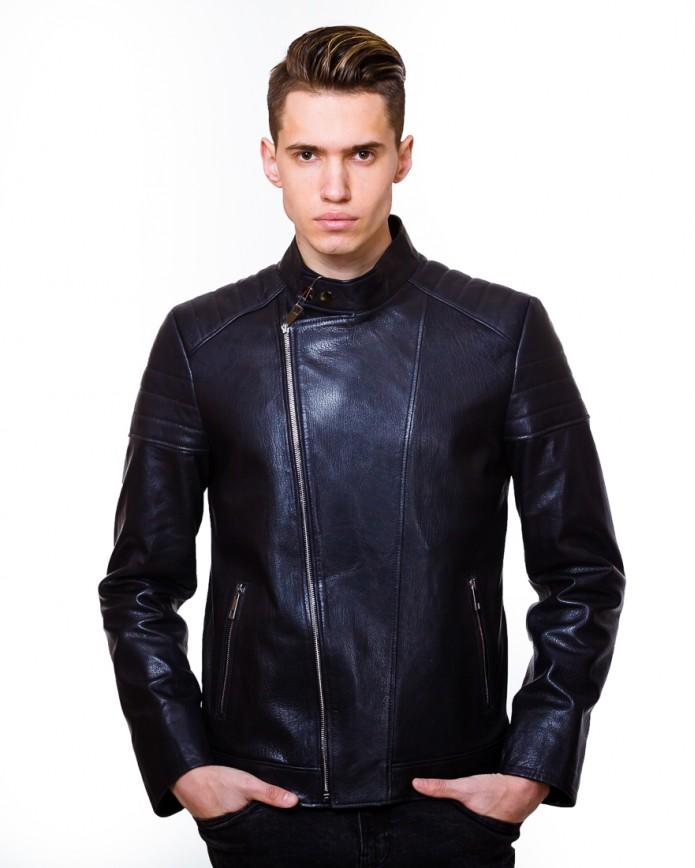 Мужская кожаная куртка косуха 8034 Y100 JUMBO 029 - интернет-магазин Alberta