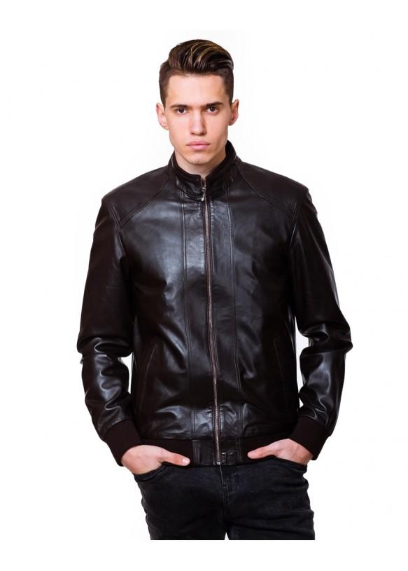 Мужская кожаная куртка  N.N1885 Y115 ZIK 029
