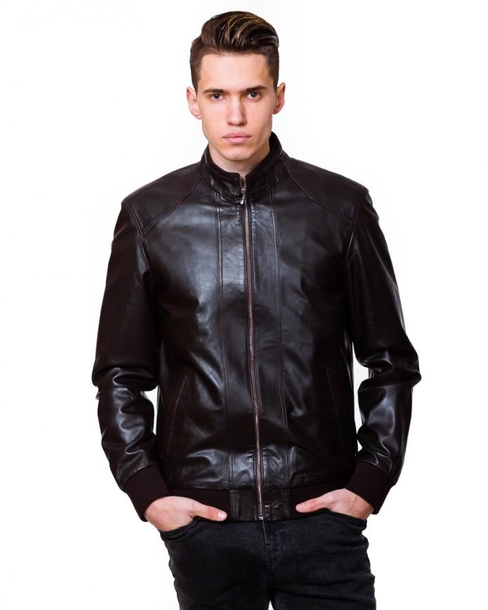 Men's leather jacket N.N1885 Y115 ZIK 029 - интернет-магазин Alberta