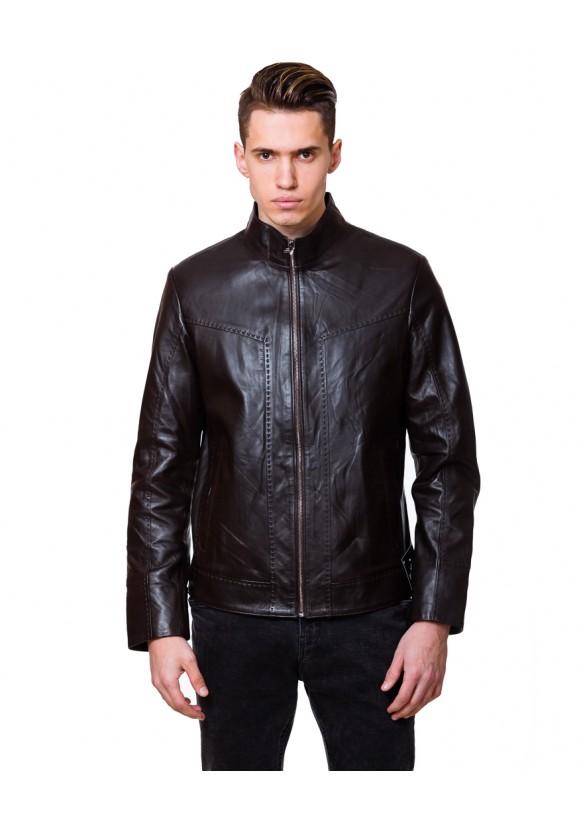 Мужская кожаная куртка NN.6083 Y75 ZIK 029