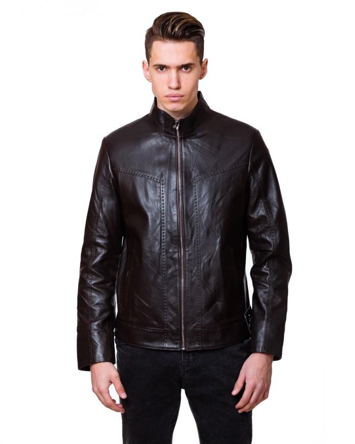 Мужская кожаная куртка NN.6083 Y75 ZIK 029 - интернет-магазин Alberta