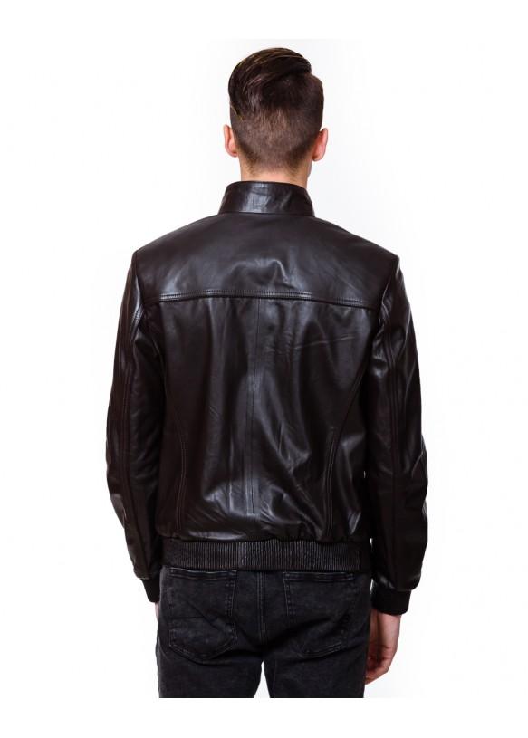 Мужская кожаная куртка N.N.6078 Y115 ZIG 029