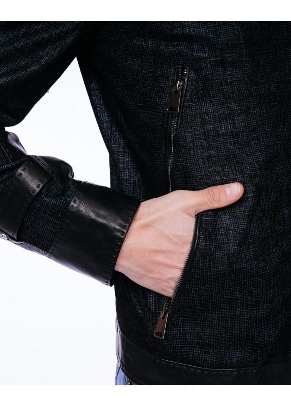 Мужская кожаная куртка 2001 VEGETAL 078