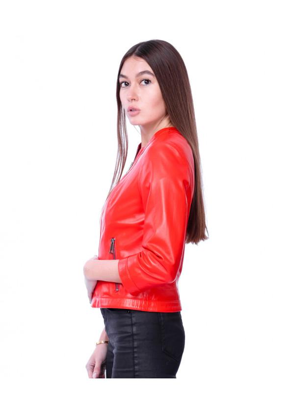 Женская кожаная куртка AZ-03 Y120 ZIG 029