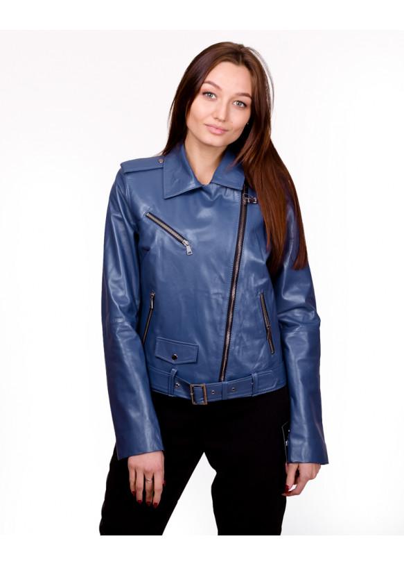 Женская кожаная куртка косуха 0006.Ж Y135 ZIG 053