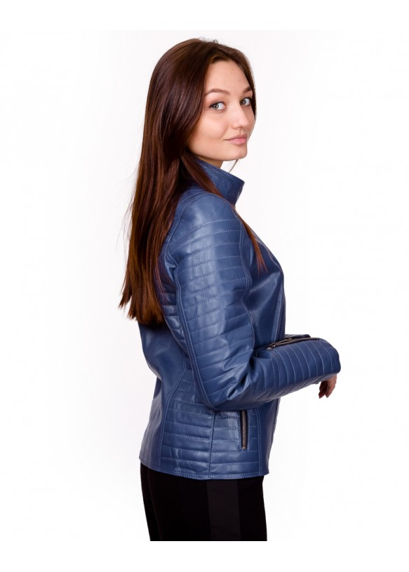 Женская кожаная куртка косуха 0008.Ж Y135 ZIG 053