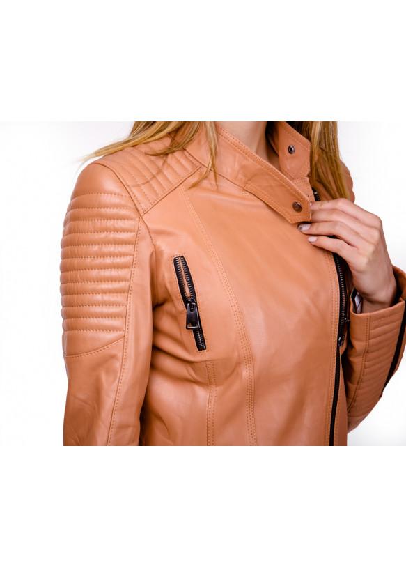 Женская кожаная куртка косуха N.0007Ж Y135 ZIG 053