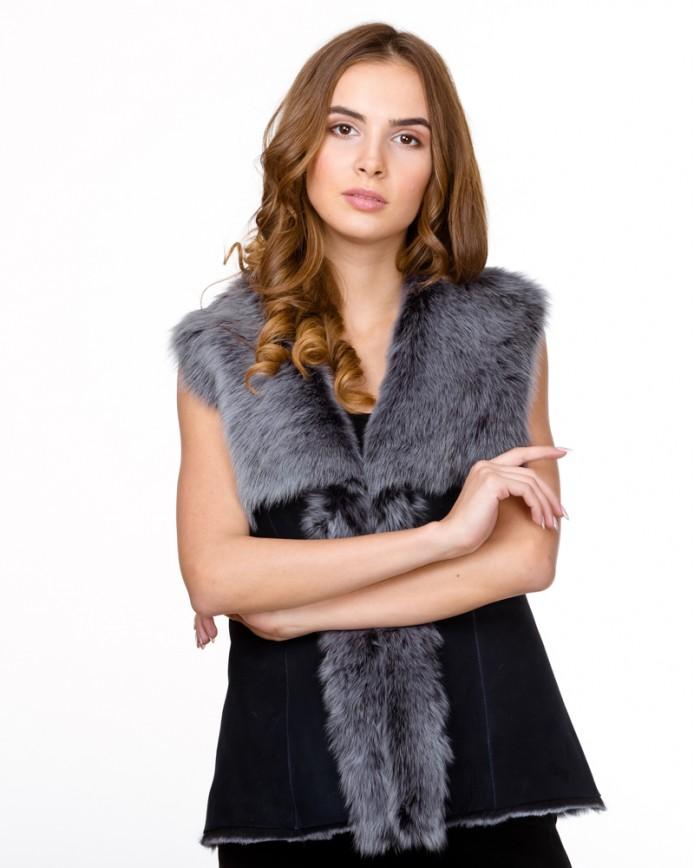 Women's sheepskin waistcoat  1090 Y70 TOSKANA 012 - интернет-магазин Alberta