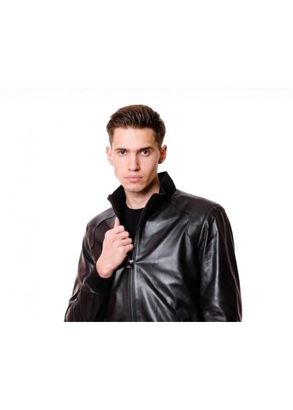 Мужская кожаная куртка N.6809 Y110 VEGETAL 068