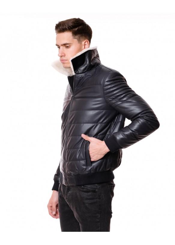 Мужская кожаная куртка 6807 Y105 ZIG 068