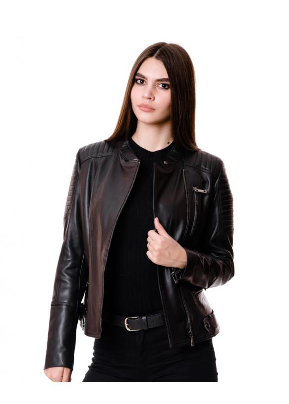 Женская кожаная куртка Z-16 Y115 ZIG 029