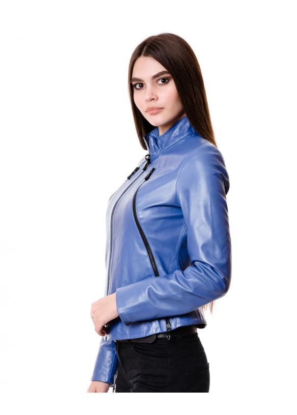 Женская кожаная куртка VV-537 Y110 ZIG 062