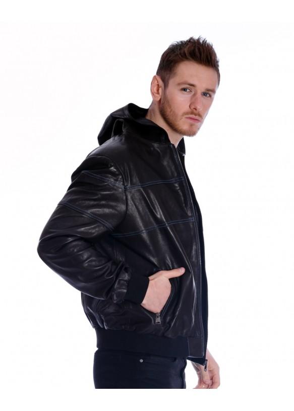 Мужская кожаная куртка PP-03 Y110 VEGETAL 068