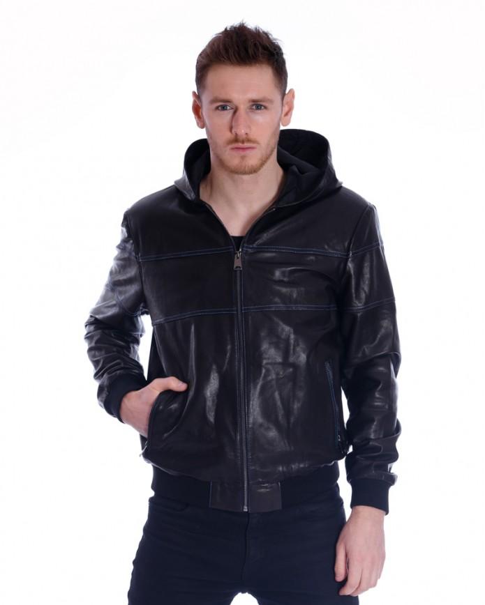 Мужская кожаная куртка PP-03 Y110 VEGETAL 068 - интернет-магазин Alberta