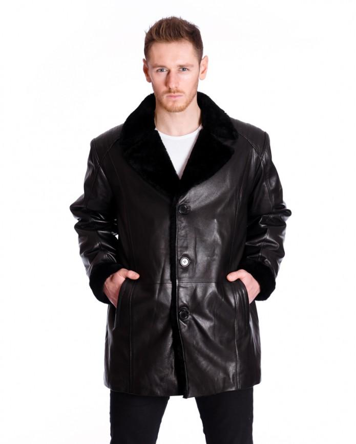 Men's sheepskin coat 9019 Y90 VEGETAL 068 - интернет-магазин Alberta