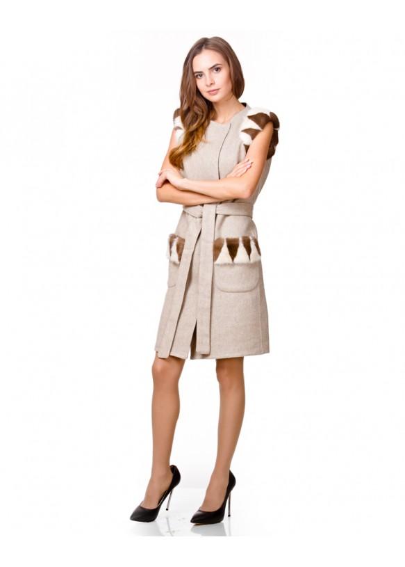 Женская жилетка из альпаки 2188 Y70 ALPAKA 041
