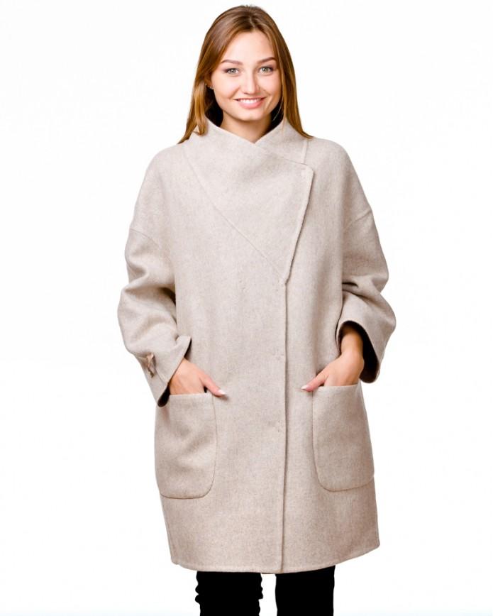 Жіноче пальто із альпаки 2128 Y70 ALPAKA 041 - интернет-магазин Alberta