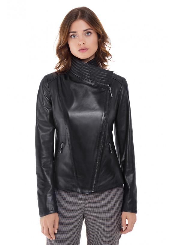 Женская куртка из натуральной кожи  B1-005 ZIG 108