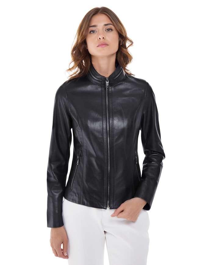 Women's leather jacket  540 C2 ZIG 089