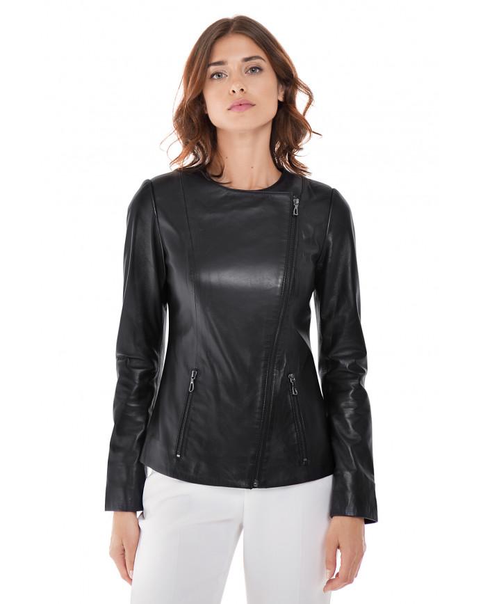 Женская куртка из натуральной кожи  B2-003 ZIK 107 - интернет-магазин Alberta