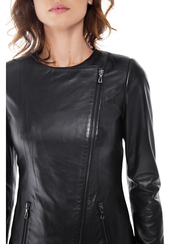 Женская куртка из натуральной кожи  B2-003 ZIK 107