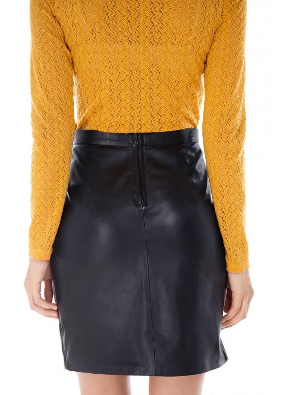 Женская кожаная юбка E-005 NATUREL 093