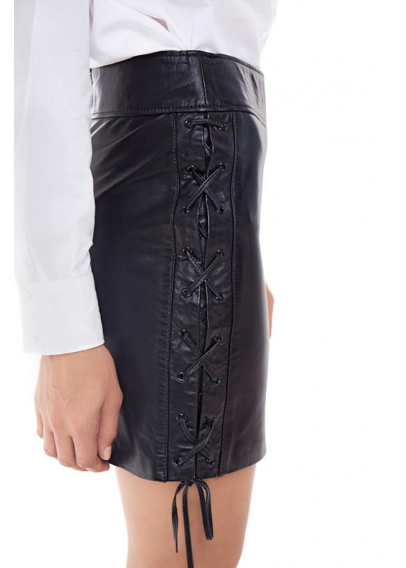 Женская кожаная юбка E-008 BRITNEY NATUREL 093