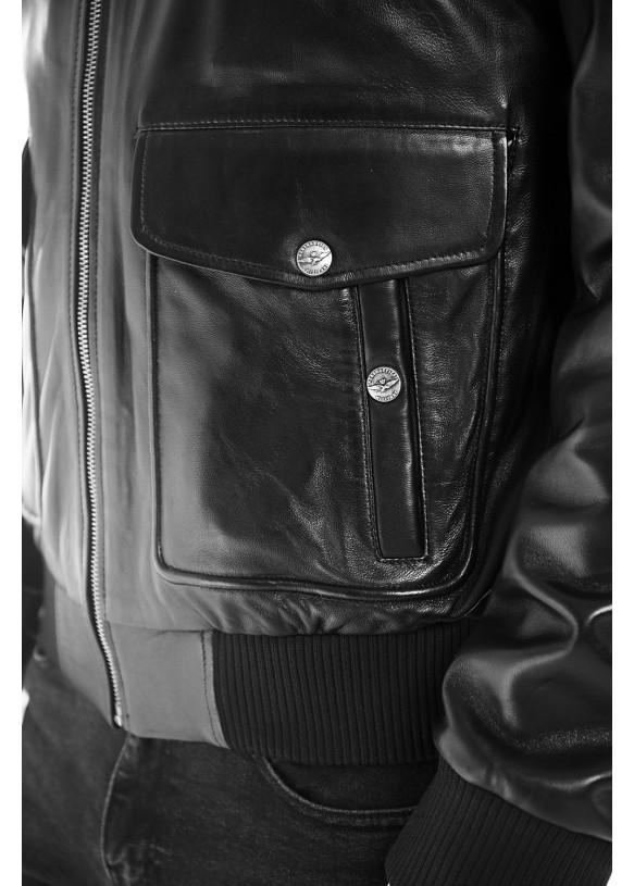 Мужская кожаная куртка 6006 VEGETAL 092