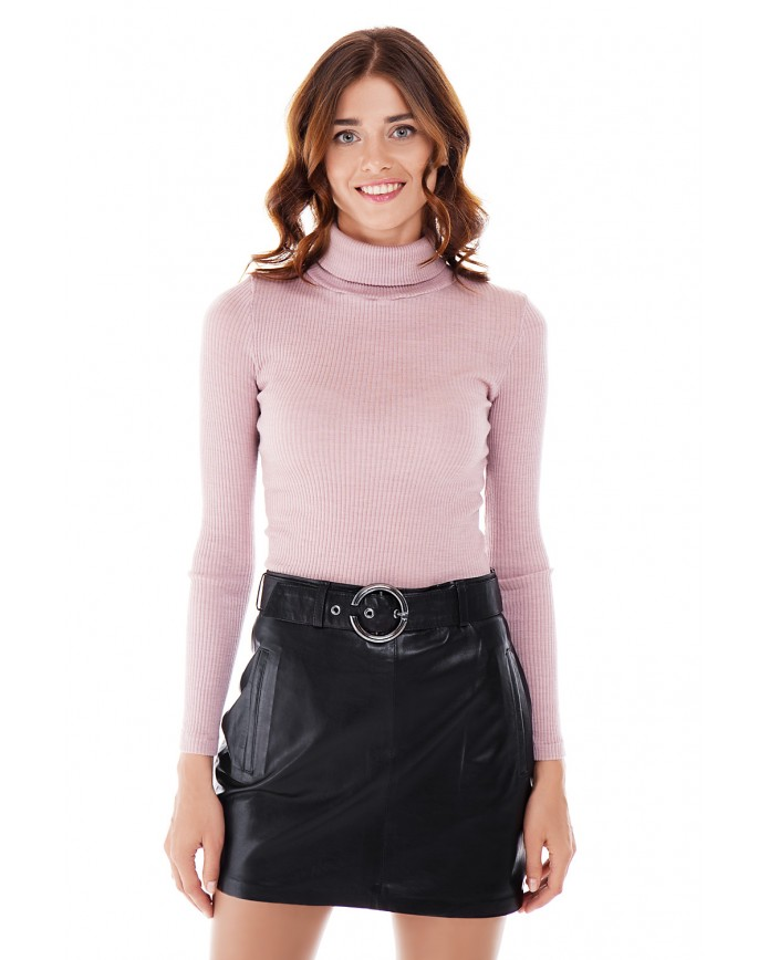 Кожаная юбка E-006 NATUREL 093 - интернет-магазин Alberta