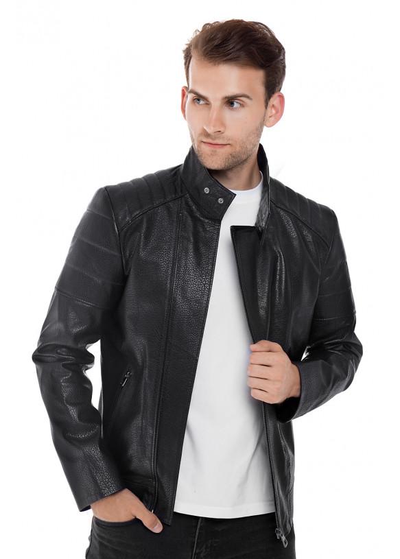 Мужская кожаная куртка косуха E2-004 JUMBO 107