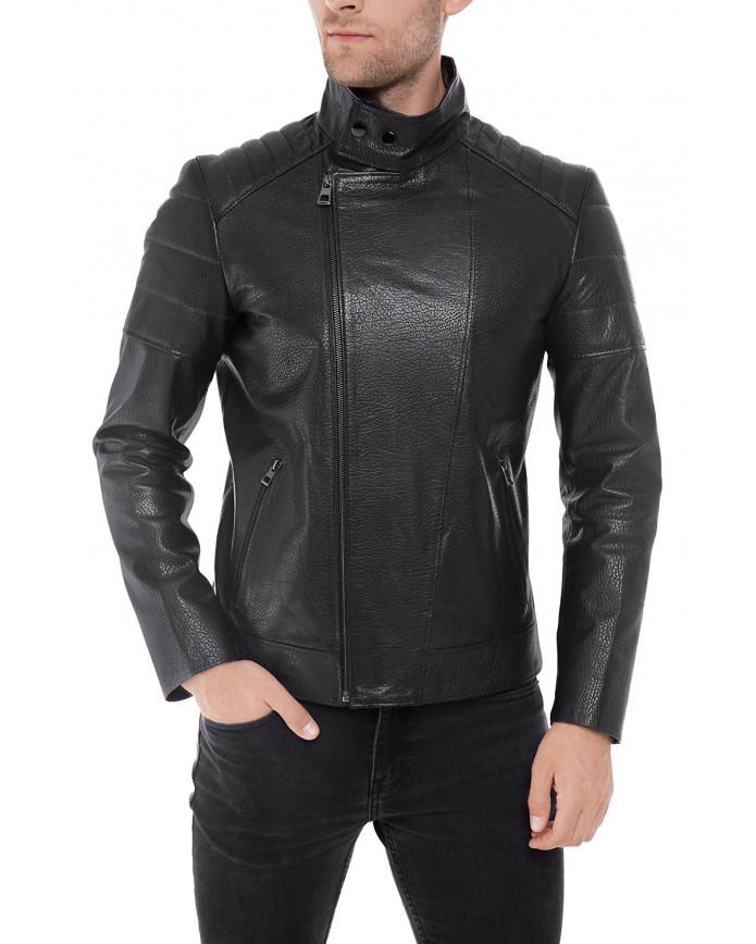 Чоловіча куртка з натуральної шкіри E1-002  JUMBO 107 - интернет-магазин Alberta