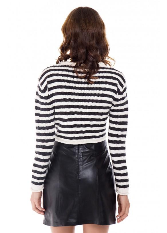 Женская кожаная юбка E-003 NATUREL 093