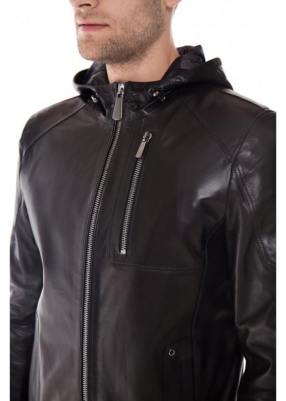 Мужская кожаная куртка    ER-6 Y190 VEGETAL 093
