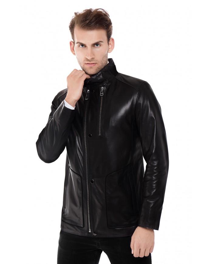 Мужская кожаная куртка ER-1 Y190 VEGETAL 093 - интернет-магазин Alberta