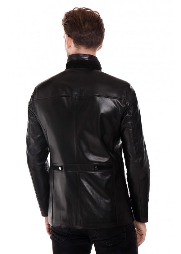 Мужская кожаная куртка ER-1 Y190 VEGETAL 093