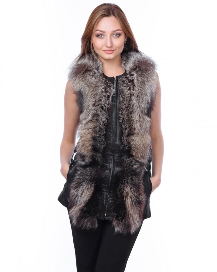 Women's fox waistcoat MAGNUM Y80 LAZ GLAD 013 - интернет-магазин Alberta