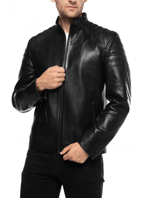 Мужская кожаная куртка N8602 VEGETAL 086