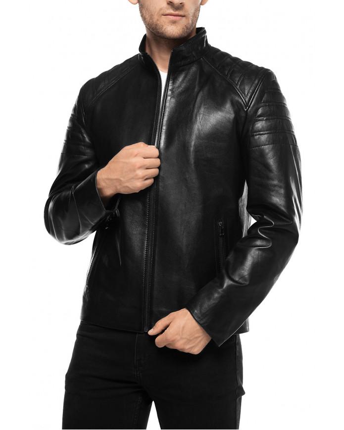 Мужская кожаная куртка N8602 VEGETAL 086 - интернет-магазин Alberta