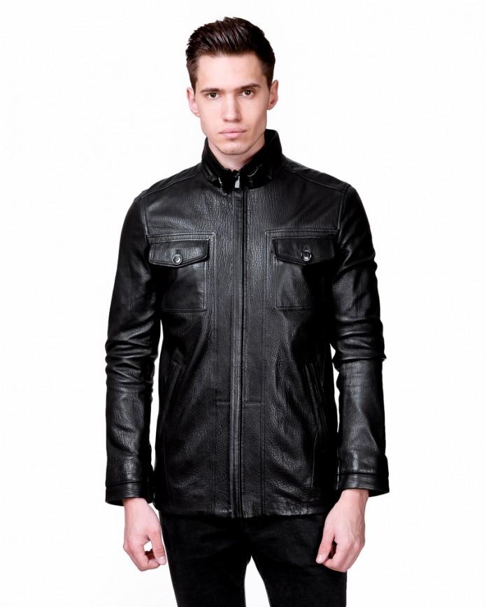 Мужская кожаная куртка S486 Y90 JUMBO 057 - интернет-магазин Alberta