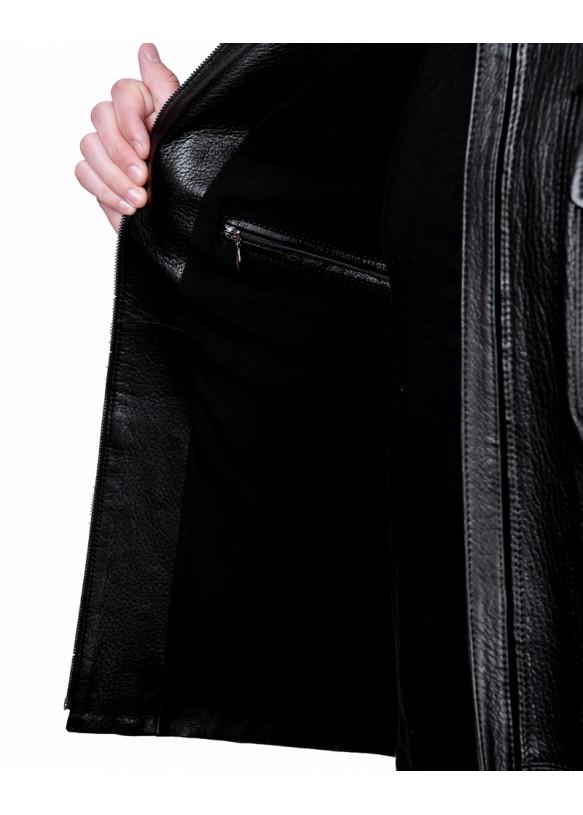 Мужская кожаная куртка S486 Y90 JUMBO 057