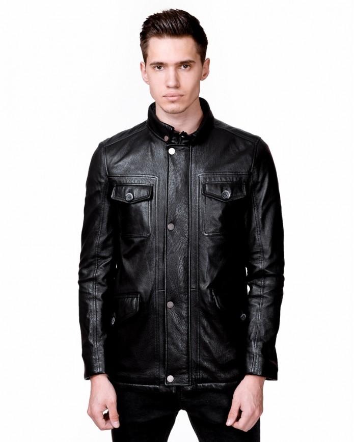 Мужская кожаная куртка S488 Y90 JUMBO 057 - интернет-магазин Alberta