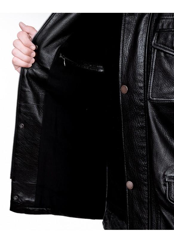 Мужская кожаная куртка S488 Y90 JUMBO 057