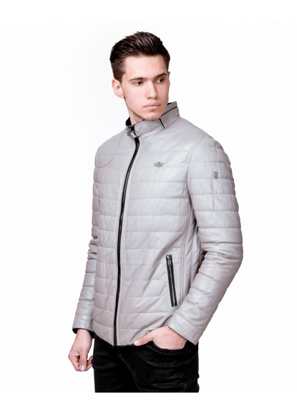 Мужская кожаная куртка N89B Y90 VEGETAL 057