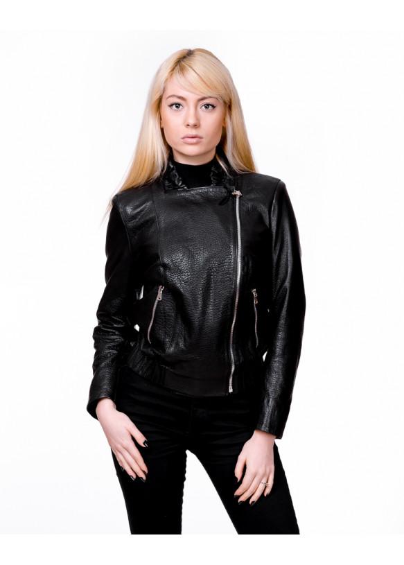 Женская кожаная куртка косуха 1642 Y105 JUMBO 057